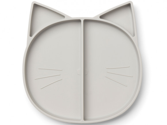 LIEWOOD Compartment Plate Maddox CAT grey