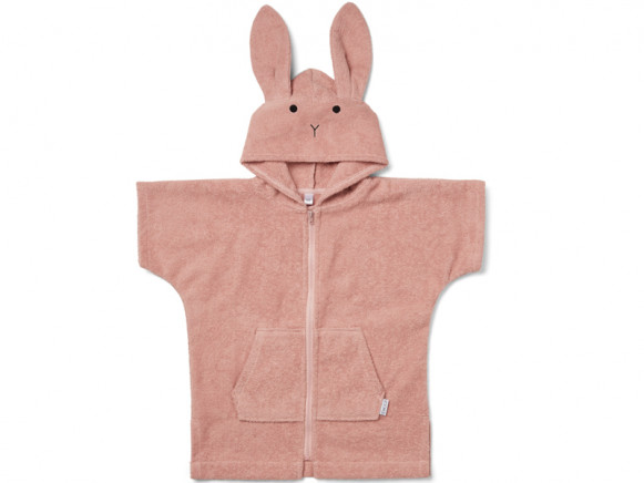 LIEWOOD Hooded Bathrobe Lela RABBIT old rose 3 - 4 years