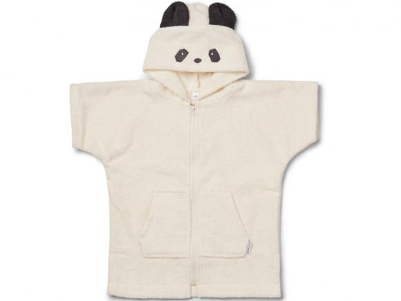 LIEWOOD Hooded Bathrobe Lela PANDA creme 3 - 4 years