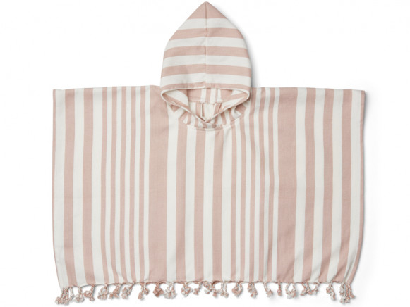 LIEWOOD Poncho ROOMIE old rose/cream 1-2