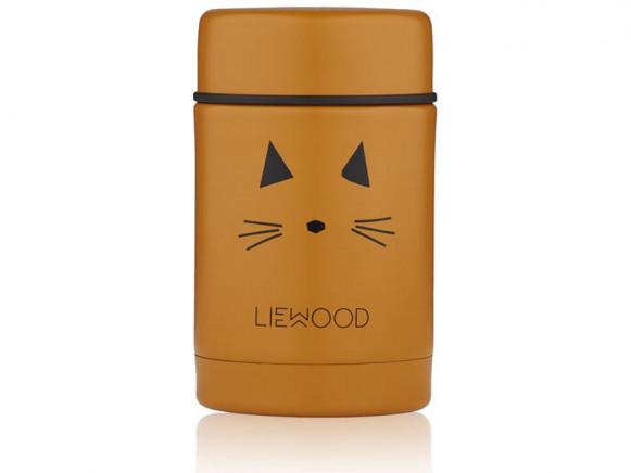 LIEWOOD Food Jar Nadja CAT mustard