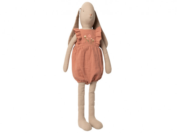 Maileg Bunny with JUMPSUIT rose (Size 5)