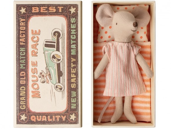 Maileg Mouse Big Sister in Box NIGHTY