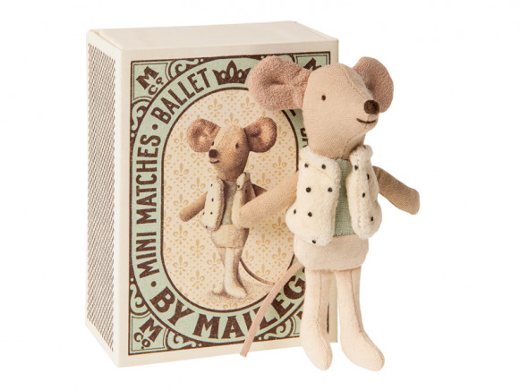 Maileg Mouse Little DANCER Brother in Box