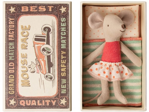 Maileg Mouse Little Sister in Box RED