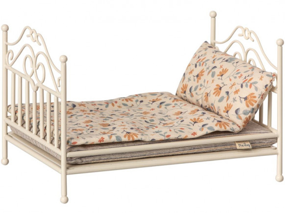 Maileg Vintage Bed with Bedding MICRO soft sand