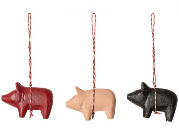 Maileg Wooden Pendants PIG