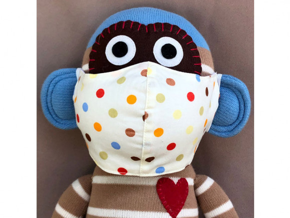 Hickups Fabric Mask KIDS Dots white