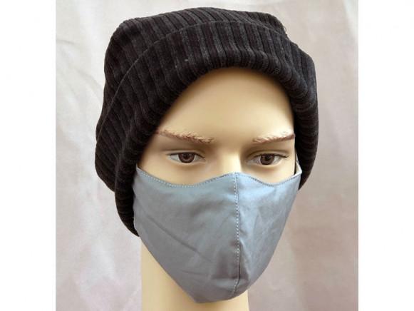 Hickups Fabric Mask ADULTS MALE grey