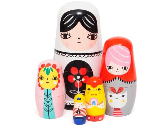 Helen Dardik nesting dolls fleur & friends