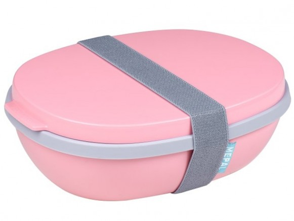 Mepal Lunchbox Ellipse Duo POWDER PINK