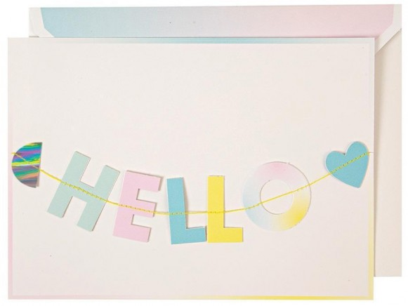 Meri Meri Garland Card HELLO LITTLE ONE
