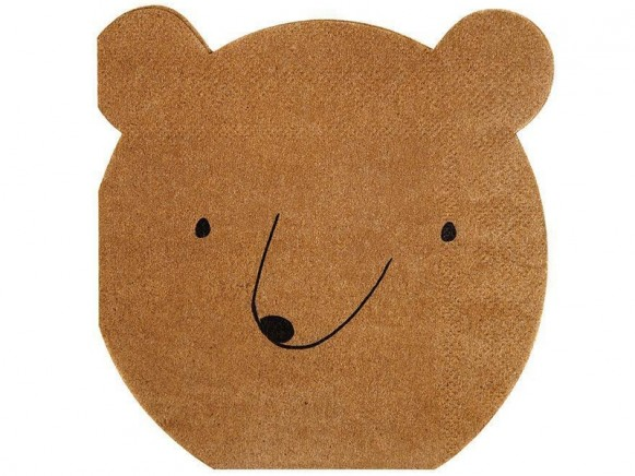 Meri Meri 20 Small Napkins BEAR