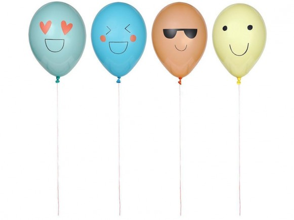 Meri Meri 8 Balloons EMOJI