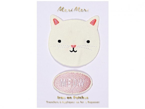 Meri Meri Iron On Patches CAT