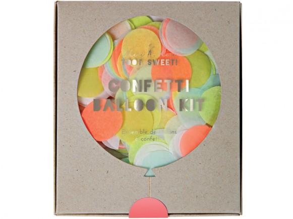 Meri Meri Confetti Balloon Kit neon