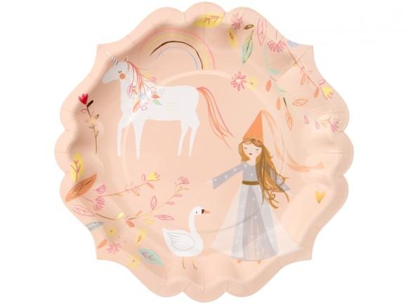 Meri Meri 8 Large Plates MAGICAL PRINCESS