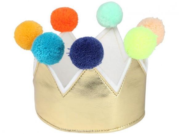 Meri Meri Crown with POMPOMS