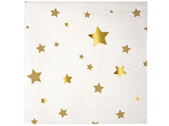 Meri Meri Small Napkins Stars gold