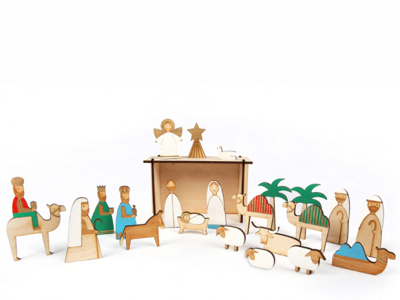 Meri Meri Advent Calendar WOODEN NATIVITY SCENE