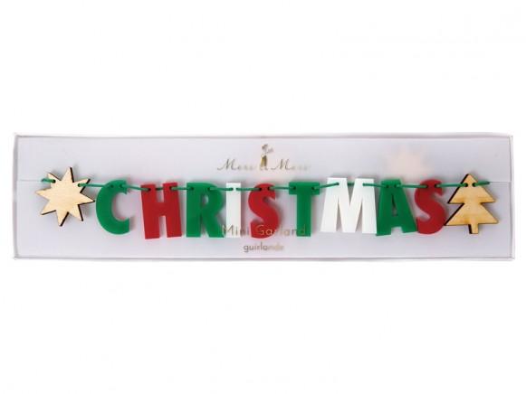 Meri Meri Mini Garland MERRY CHRISTMAS multicolored