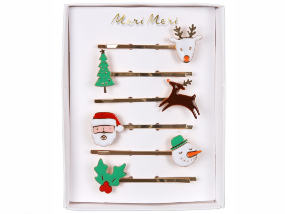 Meri Meri 6 Hair Pins CHRISTMAS
