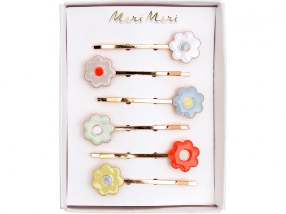 Meri Meri 6 Hair Slides DAISY