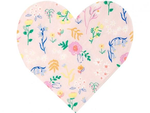 Meri Meri Small Napkins WILDFLOWER HEART