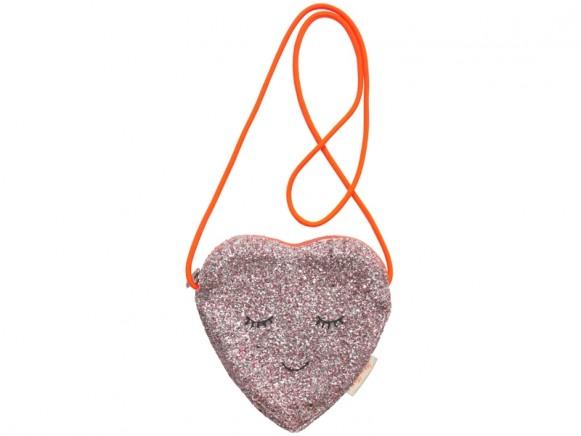 Meri Meri Bag HEART glitter