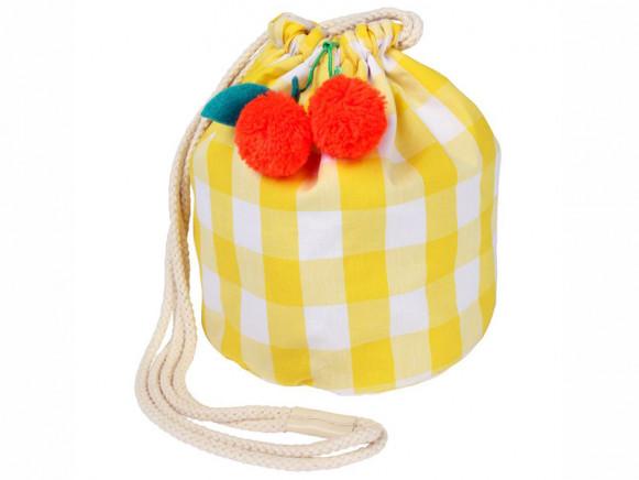 Meri Meri Gingham Bag with Cherries