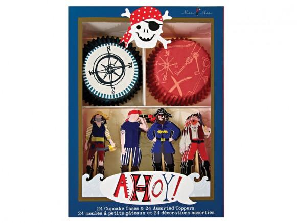 Meri Meri Cupcake Set Ahoy Pirates