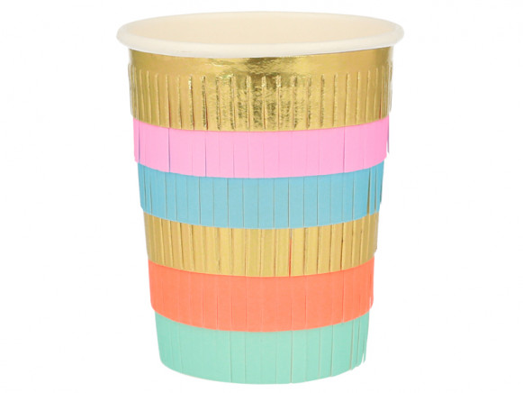 Meri Meri 8 Party Cups CIRCUS Fringe