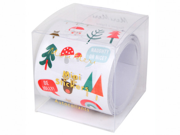 Meri Meri 500 Mini Sticker Roll CHRISTMAS ICONS