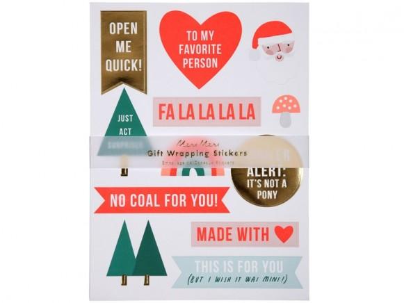 Meri Meri Gift Wrapping Stickers XMAS
