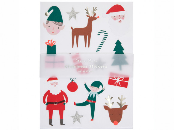 Meri Meri 160 Glitter Stickers CHRISTMAS ICONS