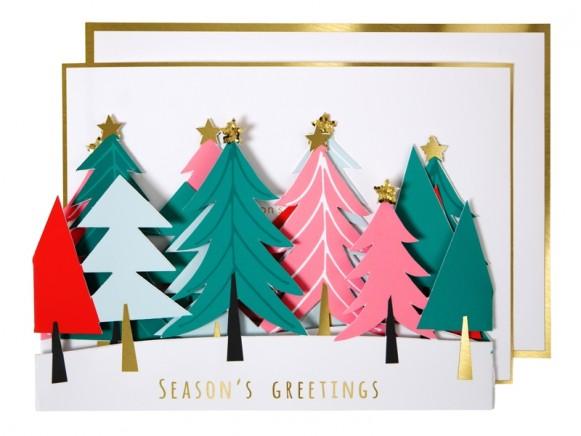 Meri Meri Christmas Card TREES