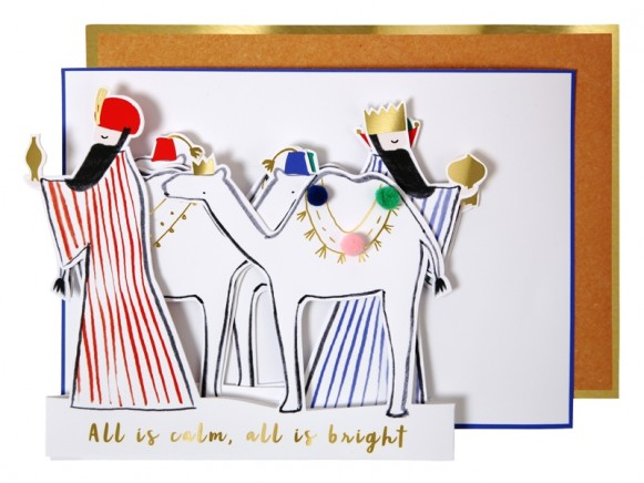 Meri Meri Christmas Card WISE MEN