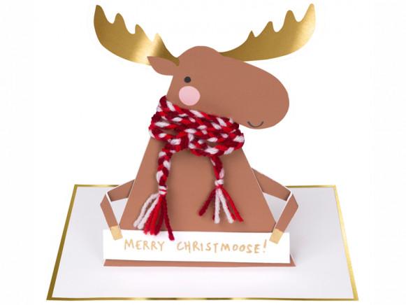 Meri Meri Christmas Card MERRY CHRISTMOOSE