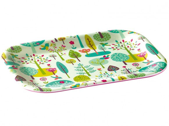 Small melamine tray with magic forest by Mini labo