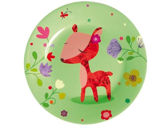 """Melamine plate """"Biche"""" by Mini Labo"""