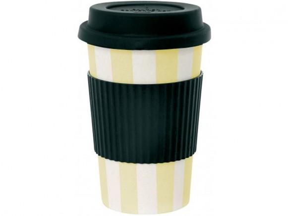 Miss Étoile travel mug yellow stripes