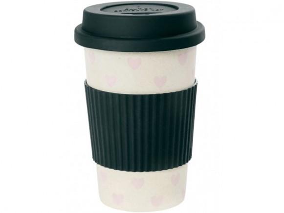 Miss Étoile travel mug pink hearts