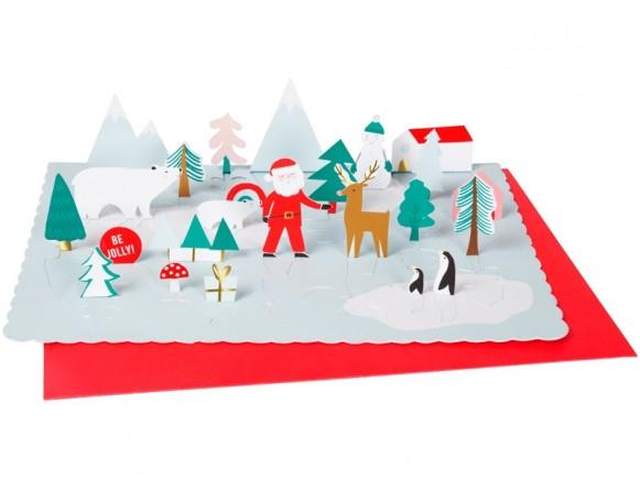 Meri Meri Pop Up Advent Calendar SANTAS VILLAGE
