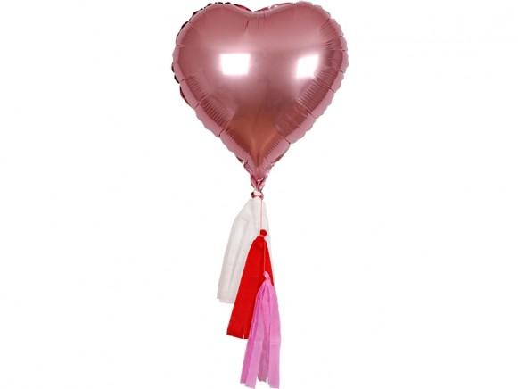Meri Meri Balloon Kit Hearts pink