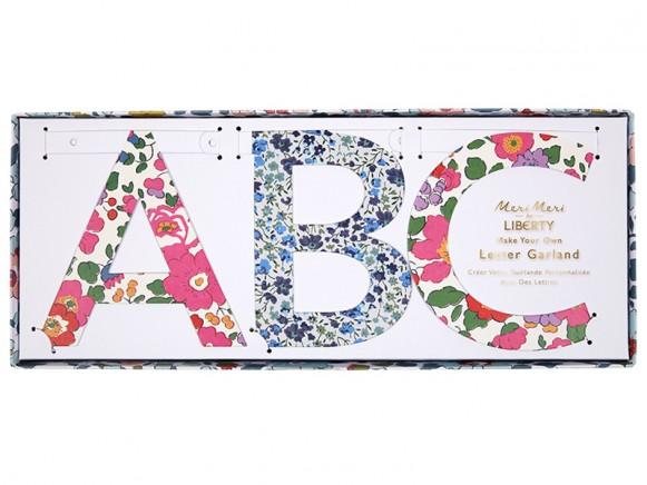 Meri Meri Letter Garland Kit Liberty flowers