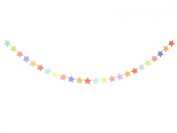 Meri Meri Garland GLITTER STARS multicolor