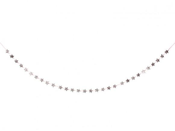 Meri Meri Mini Garland STARS silver