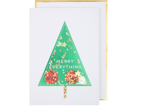 Meri Meri Christmas Card TREE glitter