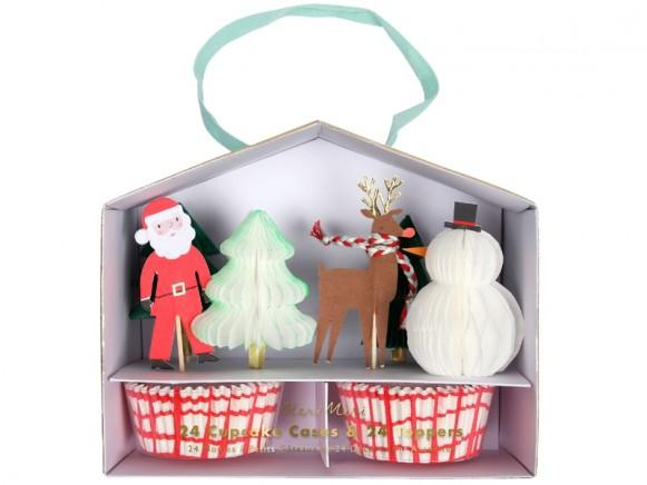 Meri Meri Cupcake Kit SANTA & REINDEER
