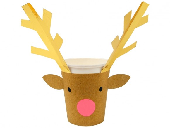 Meri Meri Party Cups REINDEER